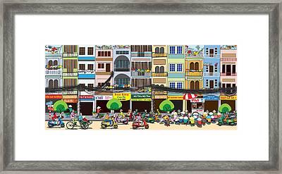 Saigon Street Foods #1 Framed Print by Cuong Huynh