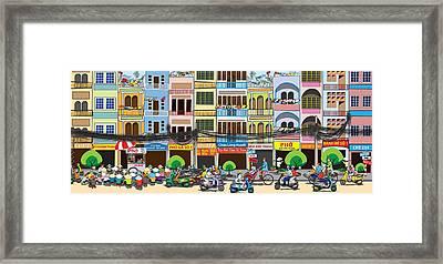 Saigon Street Foods #2 Framed Print by Cuong Huynh