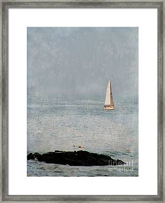 Sail Away Framed Print by Colleen Kammerer