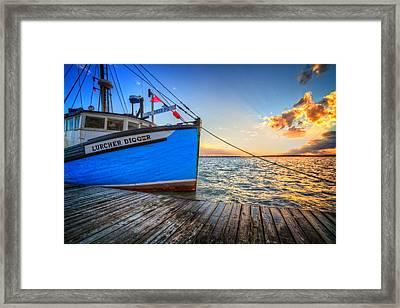 Sail Away Framed Print by Debra and Dave Vanderlaan