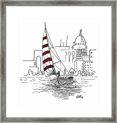 Sail Away Framed Print by Marilyn Smith