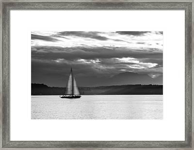 Sail Away Framed Print by TL  Mair