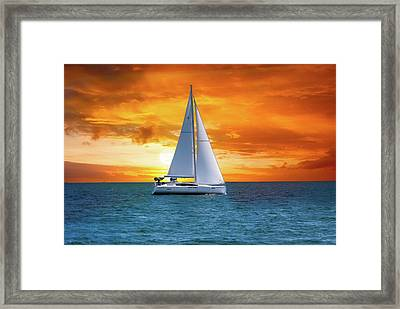 Sail Boat Framed Print by Thomas Woolworth