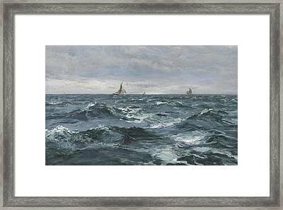 Sail On A Rough Sea Framed Print by Henry Moore