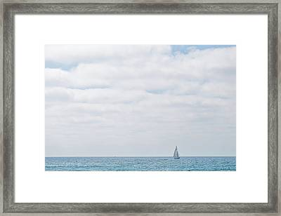 Sail On Blue Framed Print by Peter Tellone