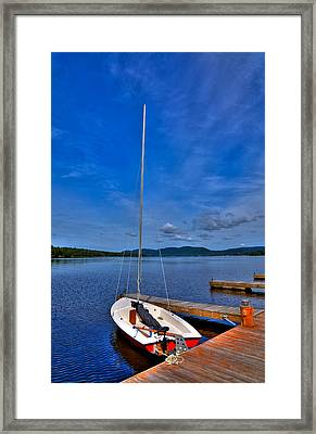 Sailboat At The Woods Inn Framed Print by David Patterson