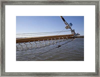 Sailboat Bowsprit Framed Print by Dustin K Ryan