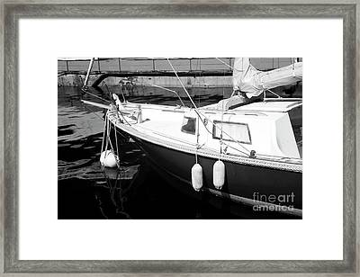 Sailboat Dock Framed Print by John Rizzuto