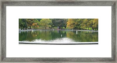 Sailboat Pond Panorama Framed Print by Christopher Kirby