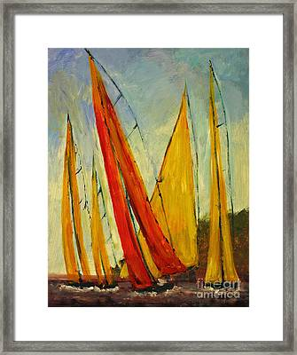 Sailboat Studies 2 Framed Print by Julie Lueders