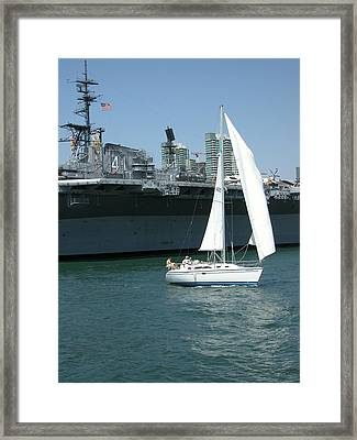 Sailboats 5 Framed Print by Joseph R Luciano