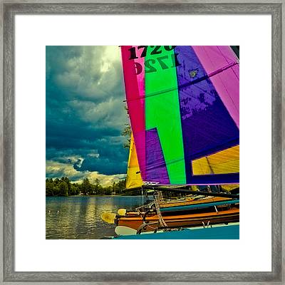 Sailboats At Camp Russell Framed Print by David Patterson