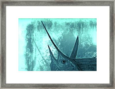Sailfish In The Mist Framed Print by Ken Figurski