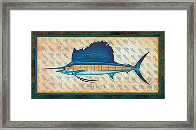 Sailfish Framed Print by Jon Q Wright