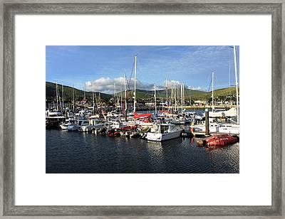 Sailing Boats At Dingle Harbour Framed Print by Aidan Moran