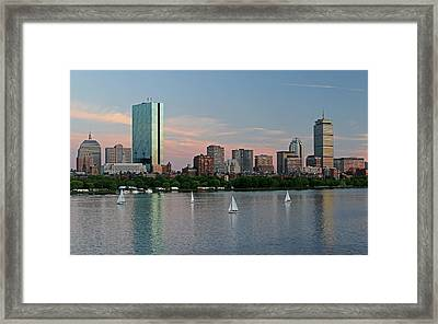 Sailing Boston Framed Print by Juergen Roth