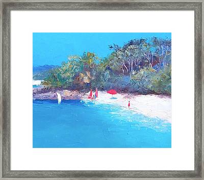Sailing Day Framed Print by Jan Matson