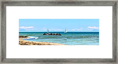 Sailing Days On Lake Erie Panorama Framed Print by Randy Steele