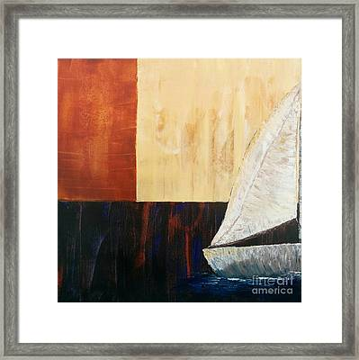 Sailing Decor 4 Framed Print by Shari Monner