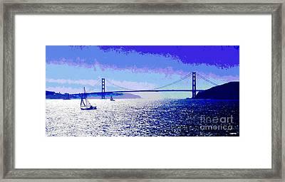 Sailing Golden Gate Bridge Framed Print by Jerome Stumphauzer