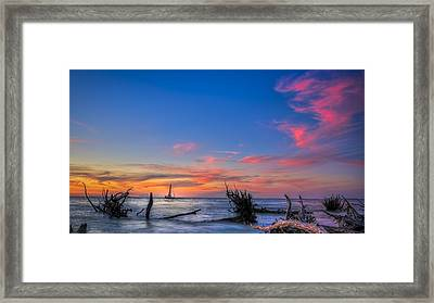Sailing Hazard Framed Print by Marvin Spates