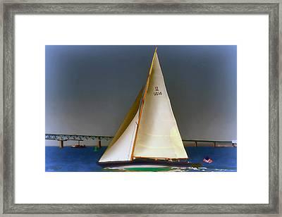 Sailing Impressionist Paint Effect Framed Print by Tom Prendergast