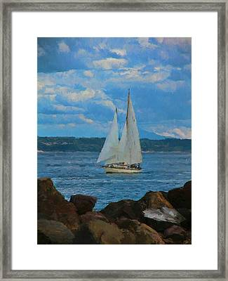 Sailing On A Summer Day Framed Print by Dan Sproul