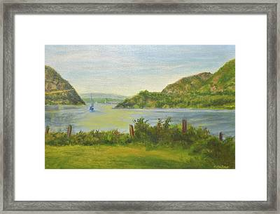 Sailing Past Cold Spring Framed Print by Phyllis Tarlow
