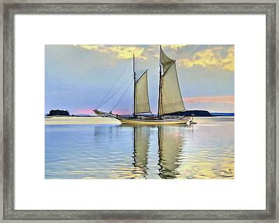 Sailing Sailin Away Yay Yay Yay Framed Print by  Fli Art