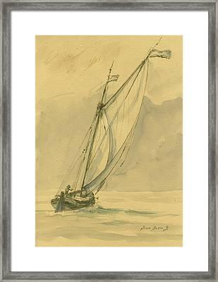 Sailing Ship Framed Print by Juan Bosco