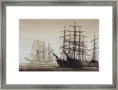 Sailing Ships Framed Print by James Williamson