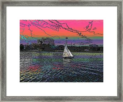 Sailing South Lake Union Framed Print by Tim Allen