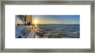 Sailing Sunset Framed Print by Dustin K Ryan