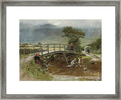 Sailing The Toy Boat Framed Print by William McTaggart