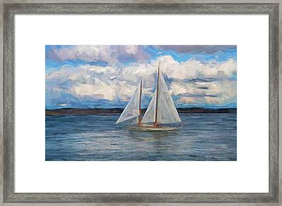 Sailing Through The Clouds Framed Print by Dan Sproul