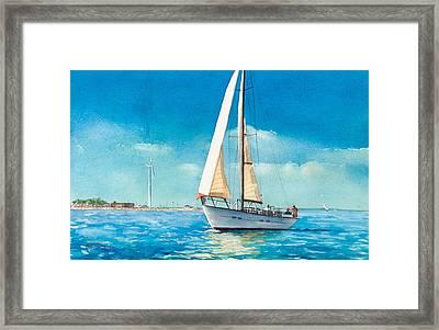 Sailing Through The Gut Framed Print by Laura Lee Zanghetti
