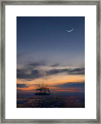 Sailing To The Moon Framed Print by Mike McGlothlen