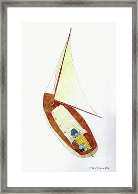 Sailing Watercolor Framed Print by Fred Jinkins
