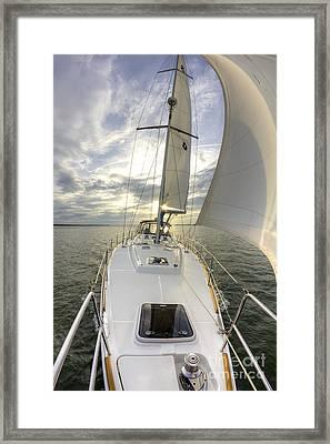 Sailing Yacht Fate Beneteau 49 Framed Print by Dustin K Ryan