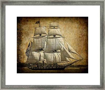Sails Full And By Framed Print by Daniel Hagerman