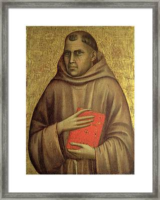 Saint Anthony Abbot Framed Print by Giotto di Bondone