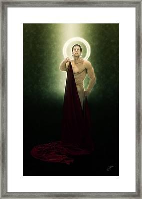 Saint Bacchus In Love Framed Print by Joaquin Abella