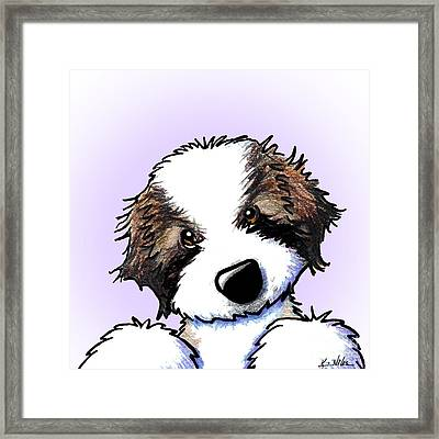 Saint Bernard Puppy Framed Print by Kim Niles
