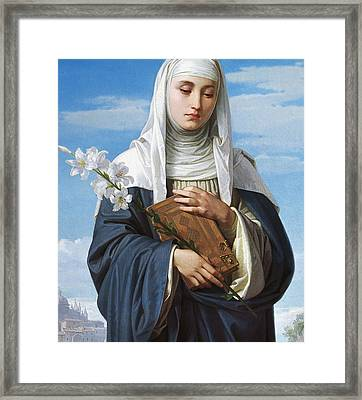 Saint Catherine Of Siena Framed Print by Alessandro Franchi