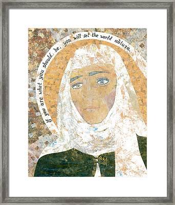 Saint Catherine Of Siena Framed Print by Carol Cole