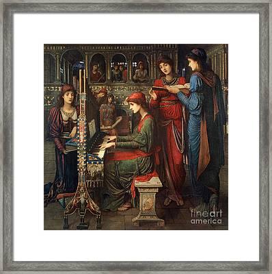 Saint Cecilia Framed Print by John Melhuish Strudwick