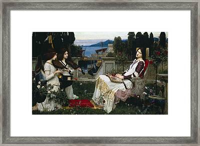 Saint Cecilia Framed Print by John William Waterhouse