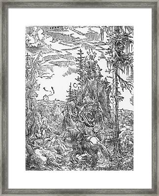 Saint George And The Dragon Framed Print by German School