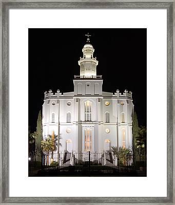 Saint George Temple Framed Print by John Wunderli
