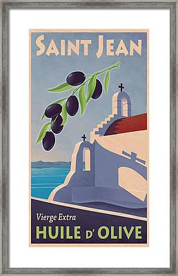 Saint Jean Olive Oil Framed Print by Mitch Frey